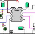 مدار آمپلیفایر هشت وات برای موبایل مداری که در پیش رو دارید یک تقویت کننده صوت یا آمپلی فایر ضعیف استریو می باشد که توانی در حدود ۸ وات را […]